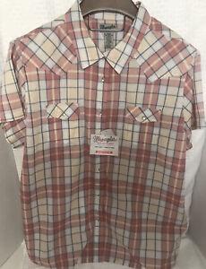 NWT Wrangler Western Style Shirt Pearl Snap 3XL