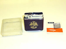 """ROWENTA """"TOP"""" POCKET WICK LIGHTER WITH LEATHER COAT - OVP - 1950/60 - GERMANY"""