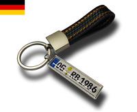 ★ KFZ Kennzeichen Schlüsselanhänger Mini Nummernschild Anhänger Carbon Optik ★