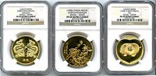 LOT OF 3 LUNAR SERIES MEDALS  BRASS ALL GRADED NGC PROOF 69 ULTRA CAMEO