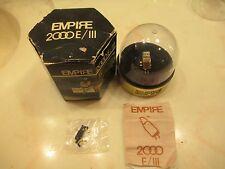 EMPIRE 2000E/III CART AND GENUINE EMPIRE S2000E/III STYLUS IN DISPLAY CASE & BOX