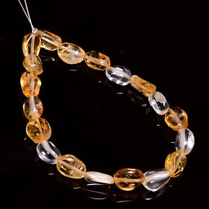 """100% Natural Citrine Gemstone Oval Smooth Beads 7X5 8X6 mm Strand 5"""" DP-4278"""