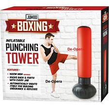 PUNCHING TOWER STRESS BUSTER STANDING INFLATABLE PUNCH TOWER PUNCHING BAG NEW