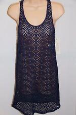 NWT Roxy Swimsuit Bikini Cover Up Tunic Tank Dress Size XL PSS0 Purple Crochet