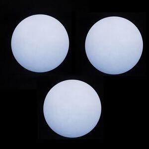 3 x LED Juggling Ball - White - Pro 70mm Glow Juggling Balls - Incl Batteries