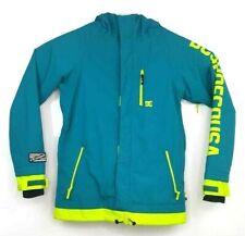 DC Shoes Womens Snowbording Jacket Sz 16 XL Green Aqua Water 10K Proof Hooded