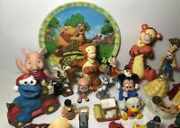 Lot of 49 Vintage Disney Figures Fast Food Toys, Watch, Acme Donald Duck Minnie