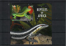 Ghana 2013 MNH RETTILI dell' Africa, ho IV S / S Lucertole throated GIALLO giorno Gecko