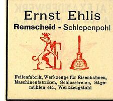 Ernst Ehlis Remscheid-Schlepenpohl FEILENFABRIK Trademark 1908