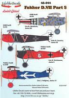 Lifelike Decals 1/48 FOKKER D.VII German WWI Fighter Part 5