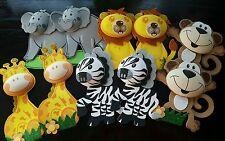 "10 pcs 8"" baby shower/bday party Safari/jungle Animals Foam Decorations"