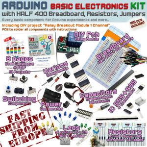 Arduino Kit - Electronic Starter Basic Pack [Breadboard,Resistor,Cables&more]EUR