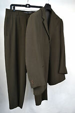 Giorgio Armani Black Label Green 3 Button Suit Blazer Jacket Pants 54 Italy Mens