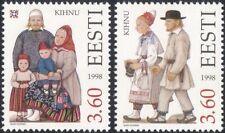 Estonia 1998 trajes tradicionales/Ropa/Textil/Diseño/Heritage 2 V Set ee1191