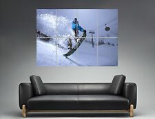 Snowboard Extrem Sport Freestyle Wall Art Poster Grand format A0 Large Print 03