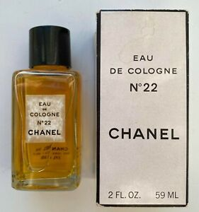 Chanel NO 22 EAU DE COLOGNE 59 ml 2 FL OZ VINTAGE 1970S