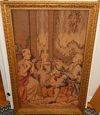 OLD HIGH SOCIETY ORIGINAL EMBROILED WALL TAPESTRY MADE IN BELGIUM
