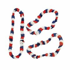 """Patriotic Tri-Color Leis (12 Pack) 36"""" - 4th Of July Party Supplies"""