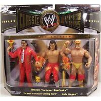 Brutus the Barber Beefcake Jimmy Hart & Hulk Hogan WWE Classic Figures NIB JAKKS