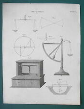BALANCES Scales Weighing Mechanics - 1820 ABRAHAM REES Print