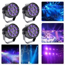 4PCS 36W 12 UV LED Par Can DJ Stage Lighting Black Light  Wedding KTV Uplighting
