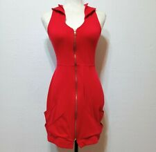 Yellowcake Project Runway Marie Claire Collared Zip Dress in Red Size XS/S