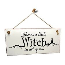 """Witchcraft and Wizardry Harry Potter Sign """"There's a Little Witch"""" HP324XX15"""