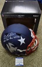 RANDY MOSS Signed Autographed New England Patriots Full Size Helmet BAS COA