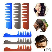 Hairdressing Styling Tool Fork Comb Pompadour Hairstyle Hair Brush Wide Teeth