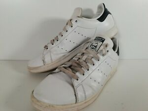 Adidas Stan Smith Classic Trainers White Navy Leather Mens UK10.5 US11 EU45.5