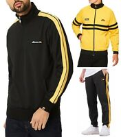 ellesse Mens Sportwear Track Jacket Top, or Jog Pants Black Yellow Mix Match