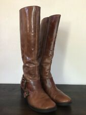 Women's Matisse Brown Distressed Leather Riding Boots Size 6 US - Super cute!