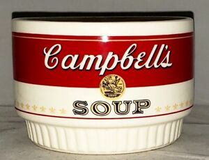 CAMPBELL'S SOUP Stackable Ceramic Red & White Vintage SOUP BOWL