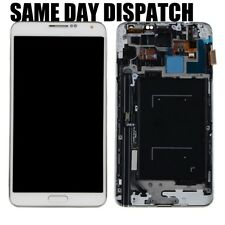 Per Samsung Galaxy Note 3 N9005 BIANCO TOUCH LCD DISPLAY SCHERMO RICAMBIO + cornice