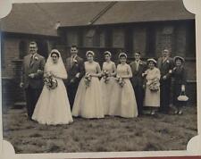 Vintage wedding photograph group  'Hall' family collection - Walsall   yg32