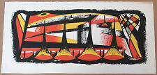 """Fred Rosebury - Mid Century Color Serigraph - """"Fortissimo"""" - Listed Modernist"""