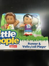 Fisher Price Little People Runner Volleyball Player Track Sports Ball New