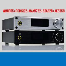 New Black XMOS HIFI USB DAC Sound Card Digital Audio Amplifier Blu-ray HD-DVD