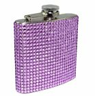 NEW Diamond Bling Rhinestone 6oz Liquor FLASK Stainless Steel Bridal Party Gift