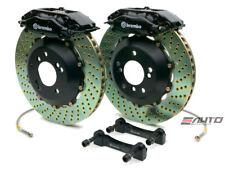 Brembo REAR GT Brake BBk 4 piston Black 345x28 Drill A4 B7 06-08 S4 B6 B7 04-08