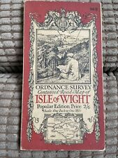 Isle Of Wight Solent Hants Ordnance Survey Map 142 1919 - Lovely Condition