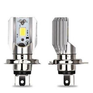 2 Ampoules H4 LED pour moto scooter 6000K phare de Croisement et Plein phare 12V