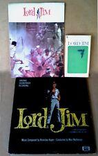 LORD JIM - BRONISLAU KAPER - COLPIX LP (GOLD LABEL) + SOUVENIR PROGRAM & PAPERBK