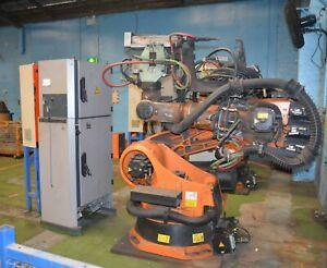 Kuka KR210 KRC2 Robot System 2.7m 210 Kg 9 axis Controller and teach pendant