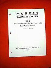 MURRAY REAR ENGINE RIDING MOWER MODEL 8-30502 PARTS MANUAL