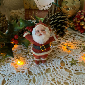 Vintage Kitsch 1960s Sant Claus - Father Christmas Tree Decorations Ornament