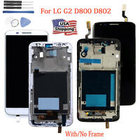 LCD Display Touch Screen Digitizer Frame Assembly Replace for LG G2 D800 D802 US