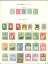 ST HELENA : & a little St. Christopher Mostly Mint Beautiful quality collection