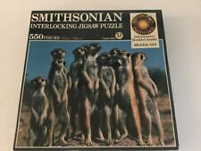 New & Factory Sealed 550 Piece Jigsaw Puzzle Smithsonian Meerkats