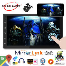 7''2 Din GPS Android Car Radio Airplay+Camera WiFi FM Touch BT iOS Mirror Link